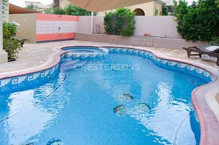 فیلا 4 غرف نوم للايجار في المرابع العربية، دبي - Private pool|Designer upgrades|Extended|