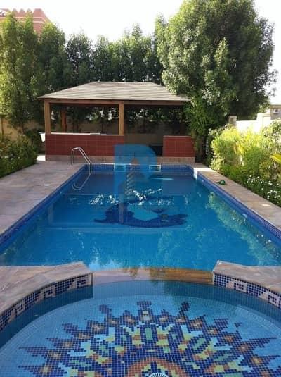 5 Bedroom Villa for Rent in Dubai Sports City, Dubai - 5BR+MaidR   Maintenance Contract   Corner single row   Private Pool   huge land scaped garden