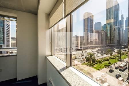 مکتب  للايجار في شارع الشيخ زايد، دبي - Partitioned Office | Utilities Included