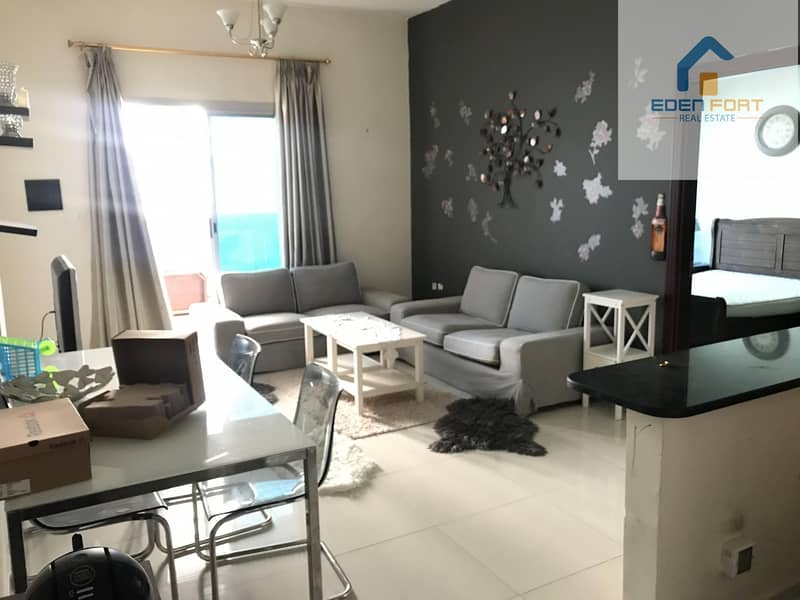 With canal view spacious one bedroom furnished flat..