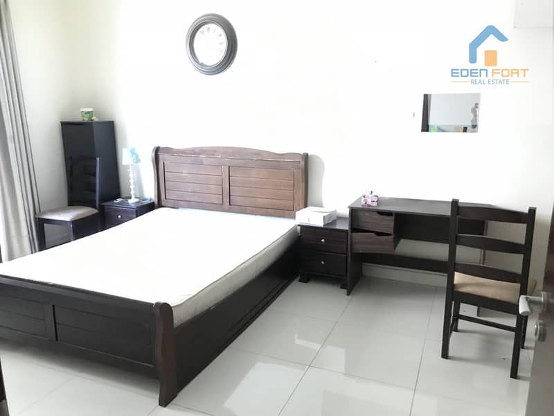 2 With canal view spacious one bedroom furnished flat..