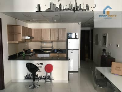 1 Bedroom Apartment for Rent in Dubai Sports City, Dubai - With canal view spacious one bedroom furnished flat..