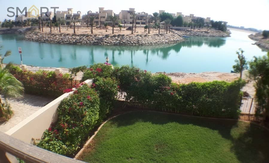 beautiful lagoon view  upgraded and modified 3BR townhouse in ,Al Hamra Village  available for sale.