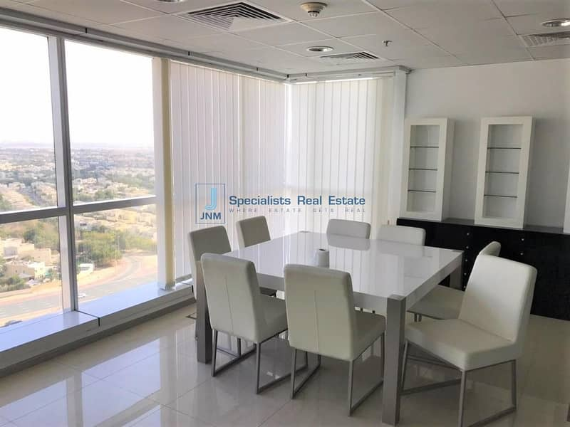 Fitted Office space with Glass Partitions in JBC