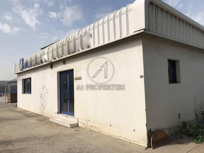 2 Corner plot open yard with office building for sale in JAFZA North