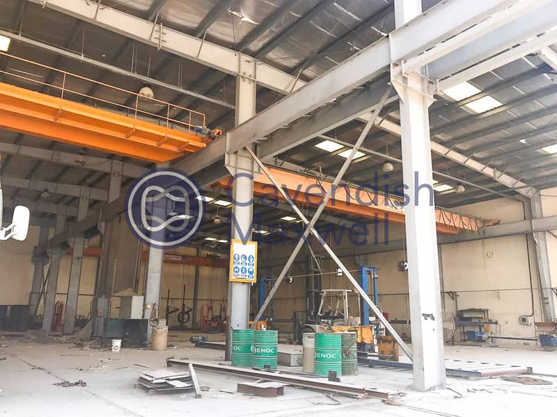 Open Sided Shed   Extensive Yard and Gantry Cranes