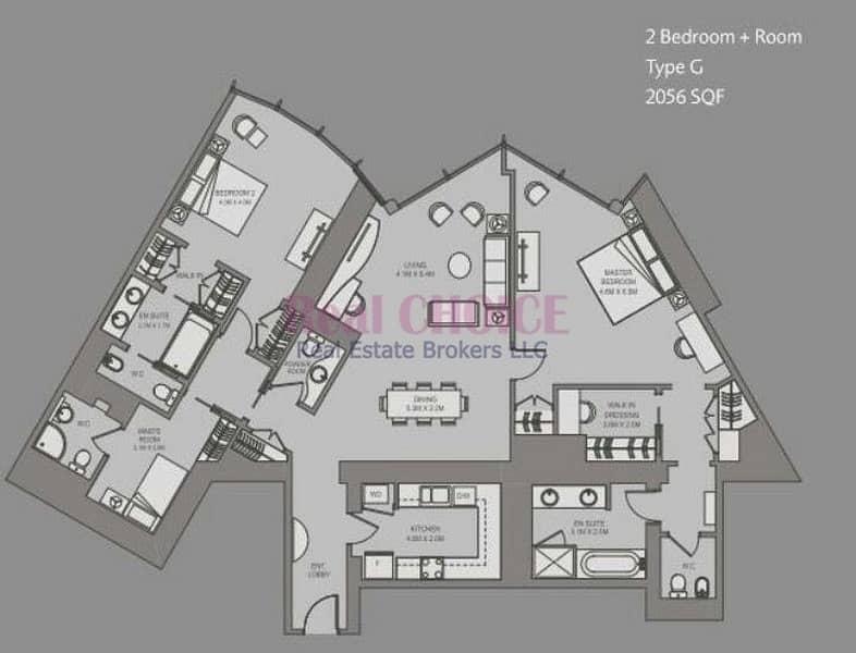 10 Type G | 2BR Plus Maids Apartment| High Floor