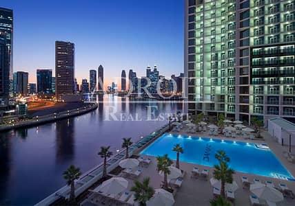 استوديو  للايجار في الخليج التجاري، دبي - Panoramic Views of Creek   Brand New   Studio   Hotel Apartment!