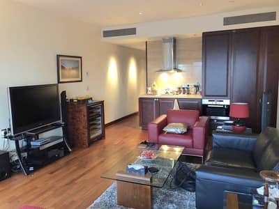 Studio for Rent in Downtown Dubai, Dubai - Stunning furnished studio with DIFC and sea views