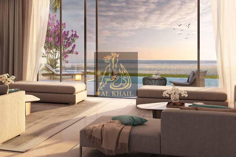 13 4 Years Post handover | Invest Opulent 6BR Waterfront Villa for sale in Sharjah Waterfront City | Stunning Beach Views