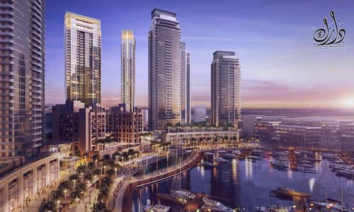 1 Bedroom Apartment for Sale in The Lagoons, Dubai - enjoy creek tower view - installment 50% for 3 years post handover