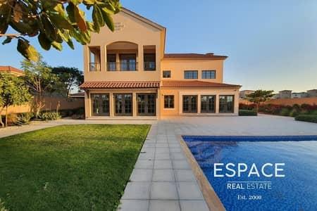 5 Bedroom Villa for Rent in Jumeirah Golf Estate, Dubai - Troon Type - Rare - Lake and Golf Views