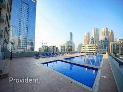استوديو  للايجار في دبي مارينا، دبي - Spacious Studio Partial Marina view