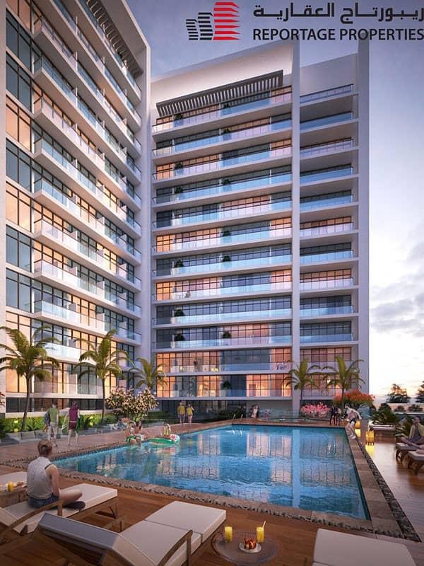 شقة مفروشة بالكامل بتصميم عصري مع إطلالة خلابة على المسبح و الحديقة