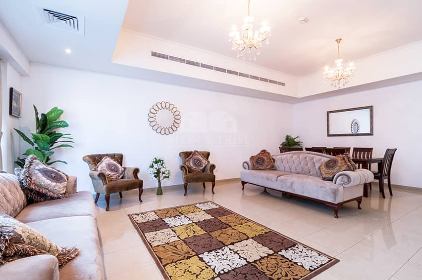 2 Bed + Maid + L Partial Sea View - Emirates Crown