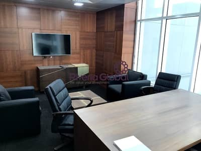 Office for Sale in Business Bay, Dubai - Fully Furnished  with Glass Portion Available for Sale in Clover Bay