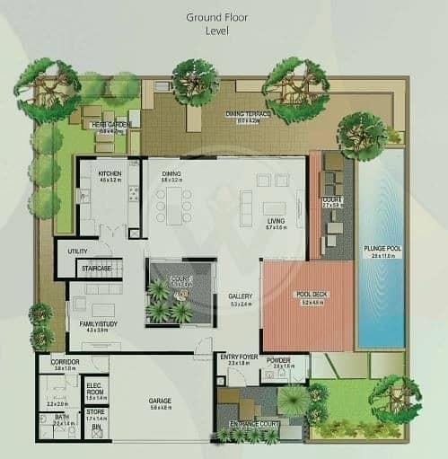 22 Exclusive! Genuine! Corner 4 bed (A) villa + pool