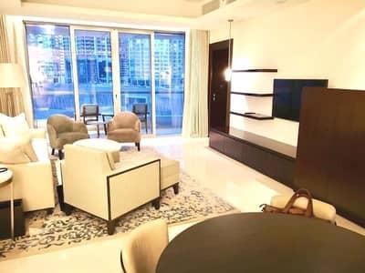 شقة فندقية 1 غرفة نوم للايجار في وسط مدينة دبي، دبي - Luxury  Hotel Apartment | All Bills Included | High Floor | Blvd View.