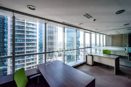 Office for Rent in Jumeirah Lake Towers (JLT), Dubai - Fitted and Furnished Office | Mid Floor