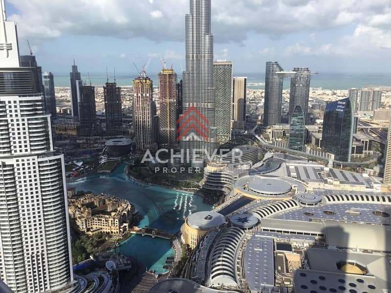 Luxury Apartment with Burj and Fountain View