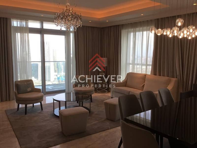 2 Luxury Apartment with Burj and Fountain View