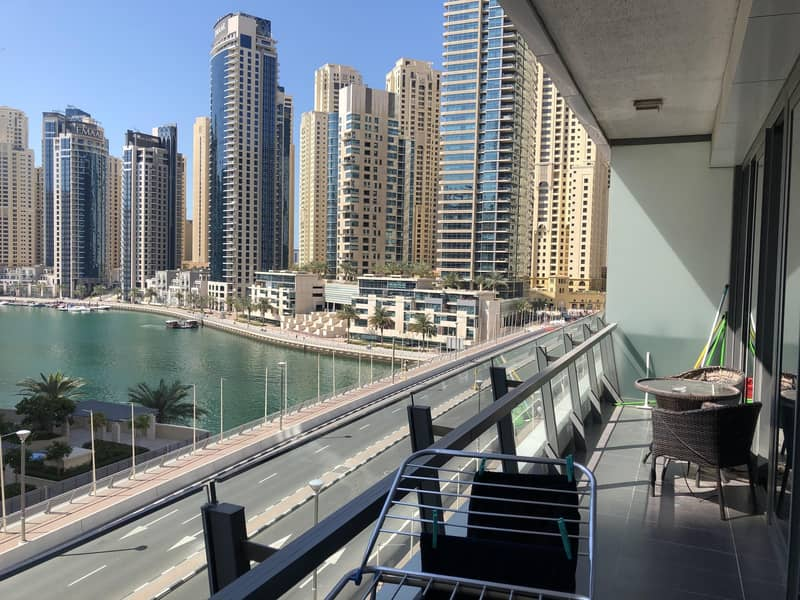 2 2 Bed Furnished Large Balcony Nice Marina View Available now