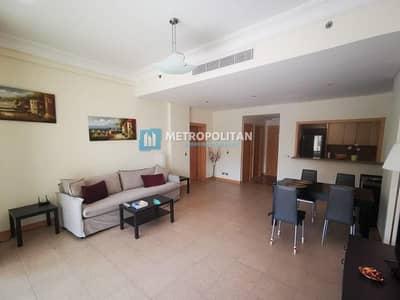 فلیٹ 1 غرفة نوم للايجار في نخلة جميرا، دبي - Beach club membership included fully furnished 1BR