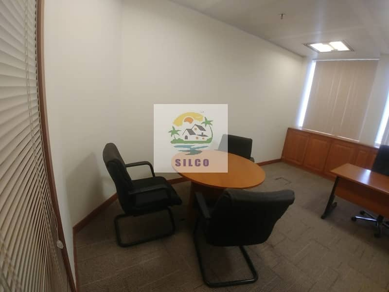 2 Furnished office space Central A/C & free internet