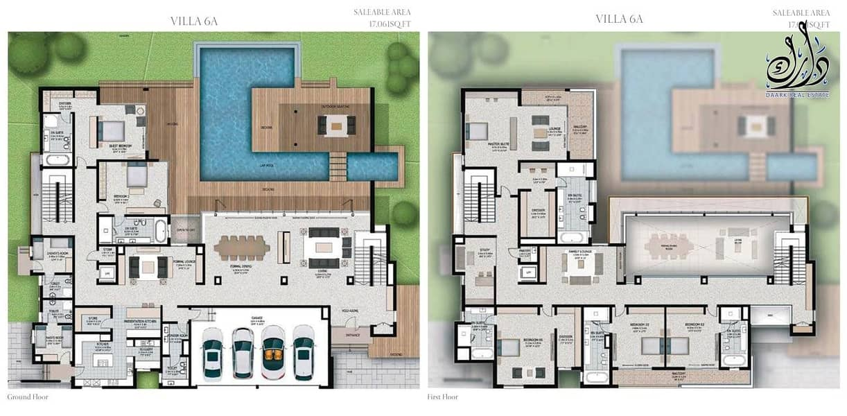 18 4 BEDROOM VILLA WITH BURJ KHLIFA VIEW.