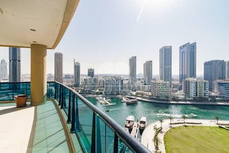 3 Bedroom Apartment for Rent in Dubai Marina, Dubai - Unfurnished | Large 3 bed plus maid | Marina View