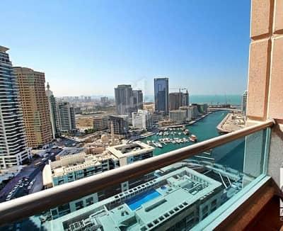 فلیٹ 1 غرفة نوم للبيع في دبي مارينا، دبي - Full Marina View| High Floor|Big Balcony|