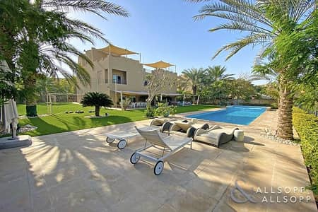 7 Bedroom Villa for Sale in Arabian Ranches, Dubai - Golf Course View | 7 Beds | Private Pool