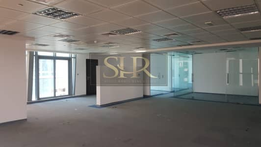 Office for Rent in Jumeirah Lake Towers (JLT), Dubai - Fitted Office With Partitions Near Metro For Rent