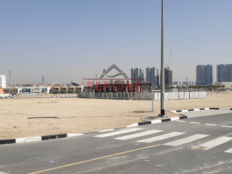2 3 sides corner Plot For Sale - Al Furjan