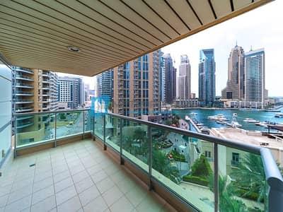 2 Bedroom Flat for Rent in Dubai Marina, Dubai - Amazing 2 Bedrooms w/ Marina View I  Unfurnished