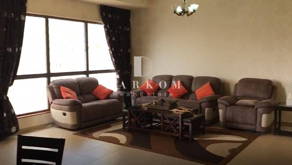 2 Fully Furnished | 2 BR | Partial Sea and Marina View | High Floor | Amwaj 4