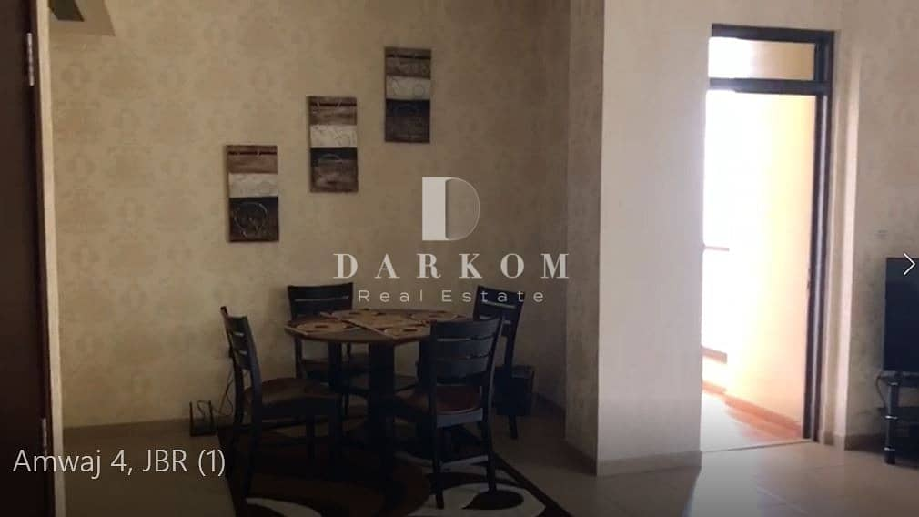 19 Fully Furnished | 2 BR | Partial Sea and Marina View | High Floor | Amwaj 4