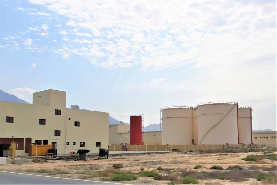 OIL STORAGE Tanks + Lubricants Factory - Freezone Port - RAK