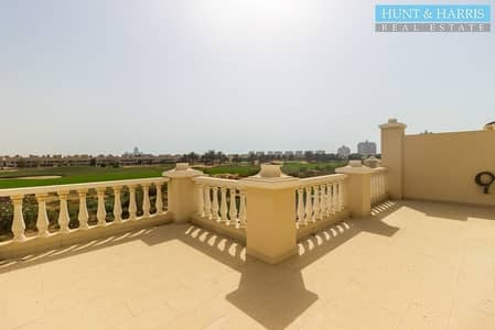 4 Bedroom Townhouse for Sale in Al Hamra Village, Ras Al Khaimah - Four bedroom townhouse with a golf course and lagoon view