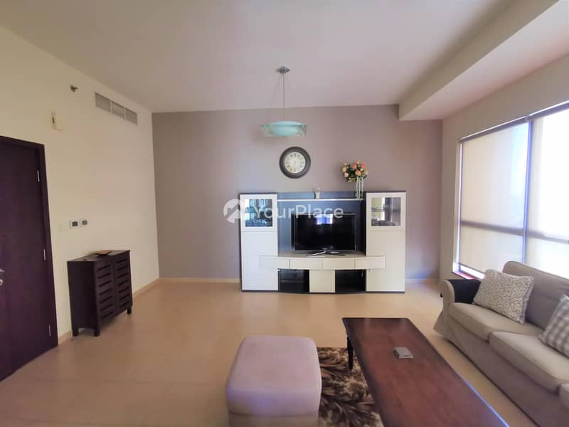 2 Fully Furnished 2 bedroom apartment with Marina view