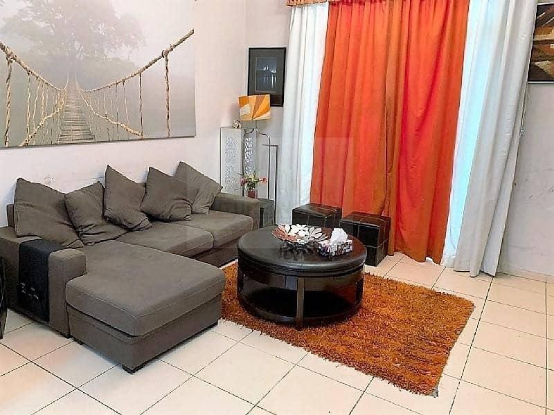 Good Price | Huge 1BR converted into 2 Bedroom | Furnished