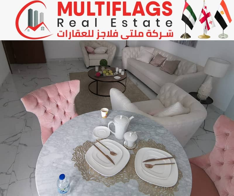 Luxury apartment in Ajman Ready for immediate and installment housing