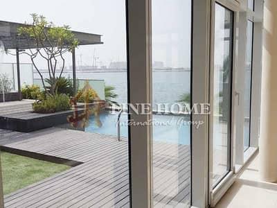 فیلا 5 غرف نوم للبيع في شاطئ الراحة، أبوظبي - Full sea View 5 BR. Villa with Privet Pool