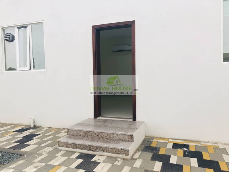2 Brand new huge studio flat w/ private entrance in Khalifa city (B) .((shakbout city ))