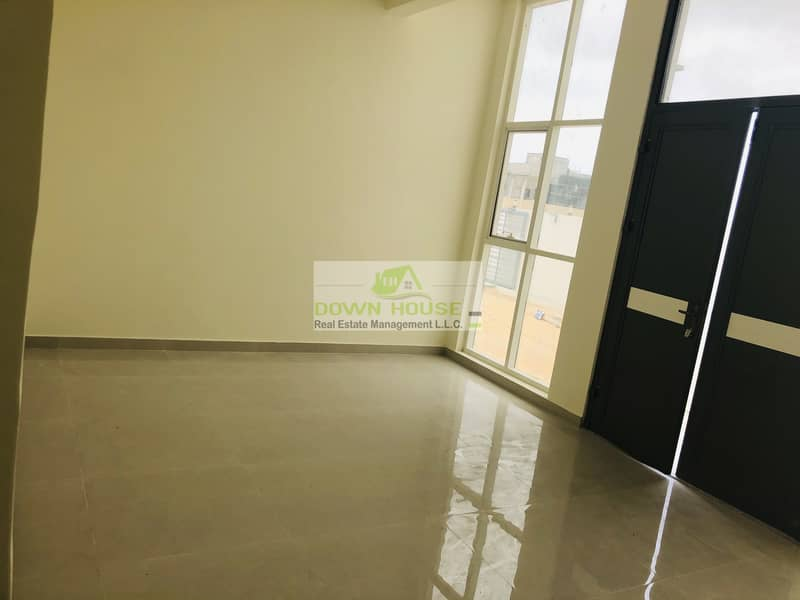 2 Brand new huge 1- bedroom hall w/ private entrance in Khalifa city (B) .((shakbout city ))