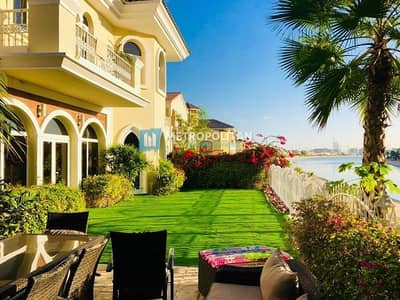 5 Bedroom Villa for Sale in Palm Jumeirah, Dubai - Furnished Immaculate Atrium Entry 5BR Garden home