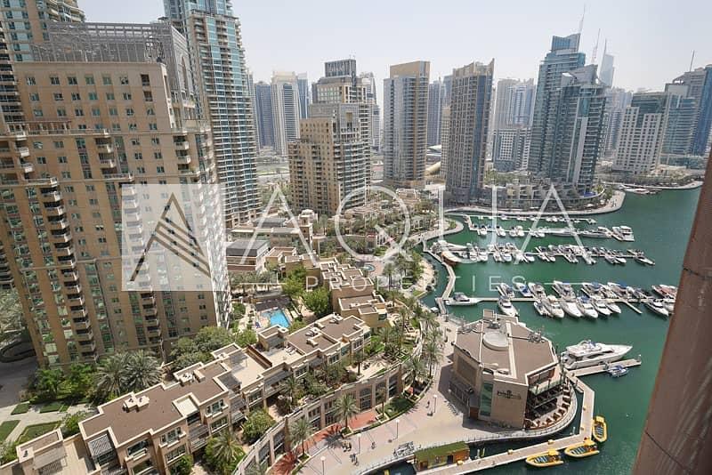 10 Huge Balcony with Marina Views | Unfurnished