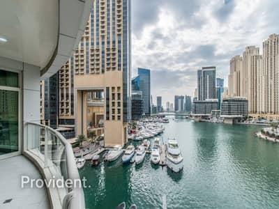 2 Bedroom Flat for Rent in Dubai Marina, Dubai - Captivating 2 B/R with Stunning Full Marina View