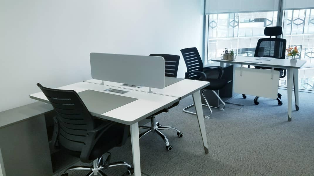 BRAND NEW CUSTOMIZED EXECUTIVE PRIVATE OFFICES AT BURJUMAN BUSINESS TOWER PRESTEGIOUSE LOCATION LINKED WITH MALL & METRO