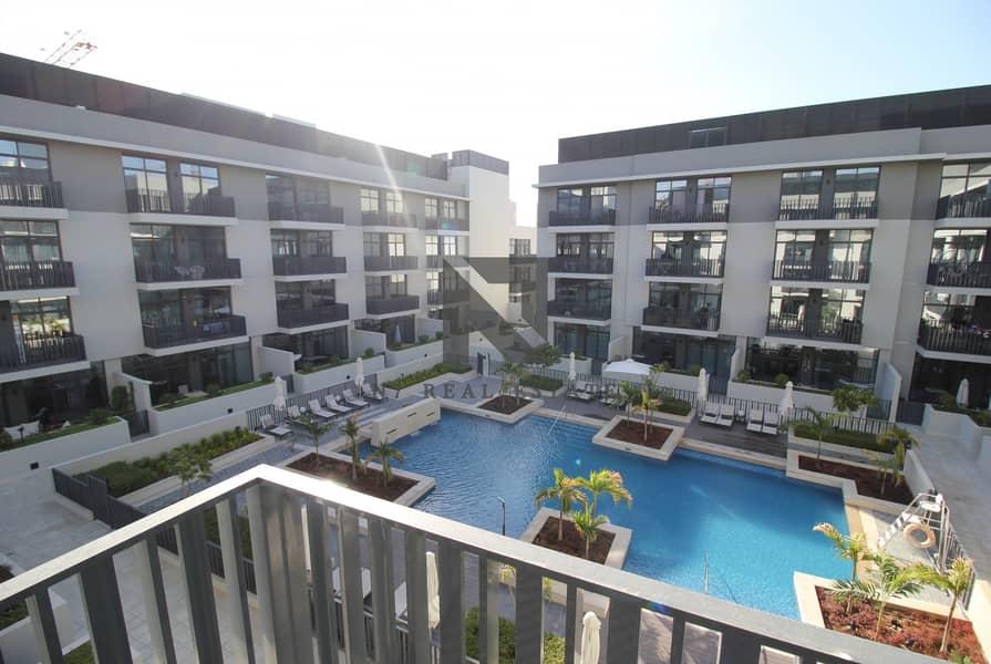 2 Pool Facing 1br Apt | High floor | Belgravia-2 JVC